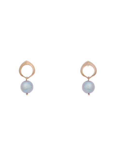 Cocochnik earrings grey pearls