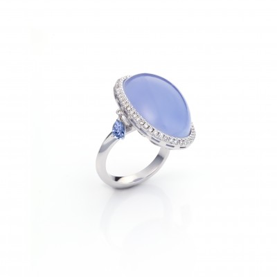 blue chalcedony ring monquer