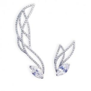 Butterfly cuff earrings