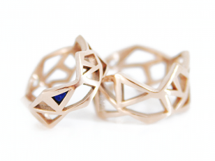 geometric bridal rings