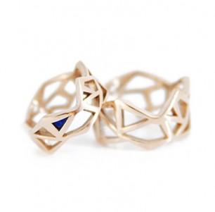 Geometric wedding rings