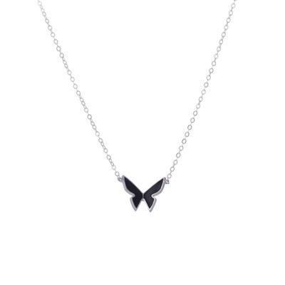 black papillon necklace