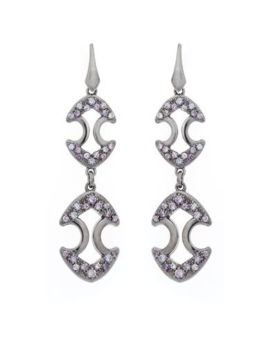 lavender long earrings