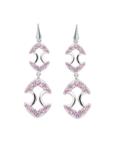 pink sapphire long earrings