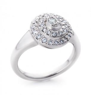 Diamond twirl  ring