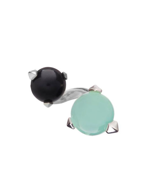 Bones Double Ring Turquoise Chalcedony monquer